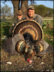 Hunting wild turkeys at Yturria Ranch